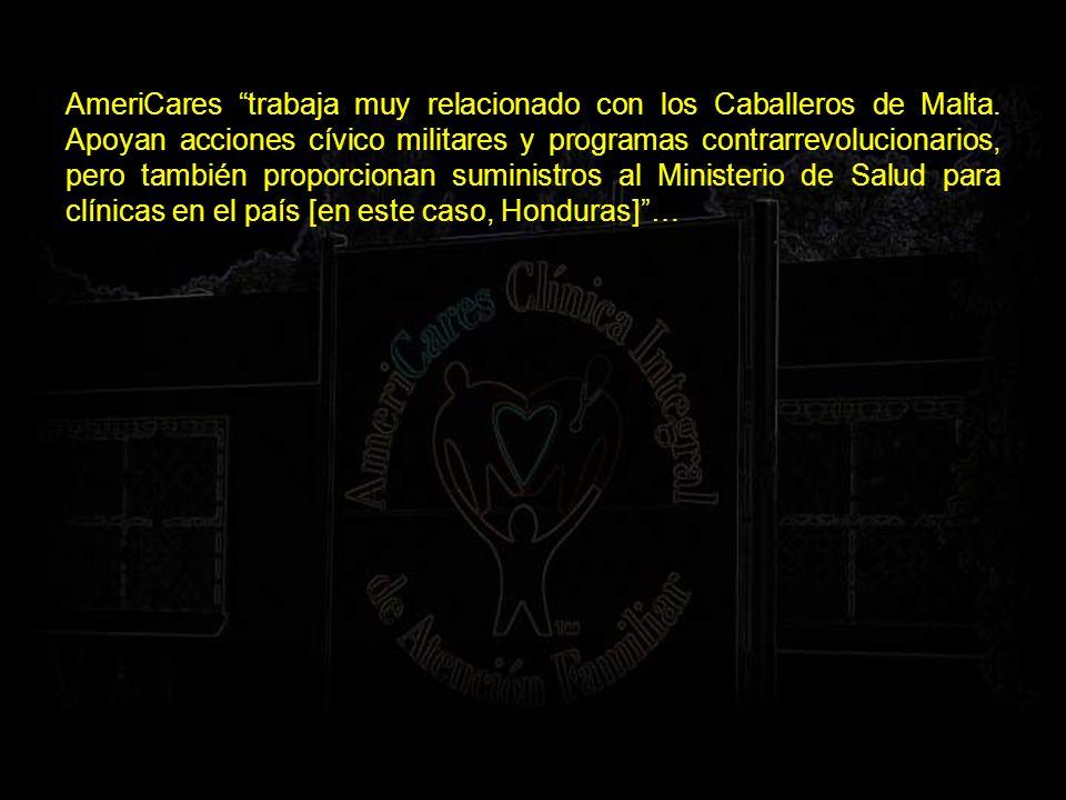 AmeriCares trabaja muy relacionado con los Caballeros de Malta