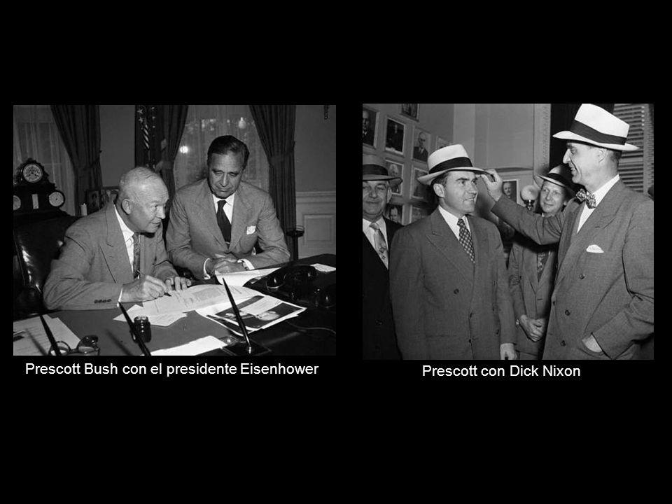 Prescott Bush con el presidente Eisenhower