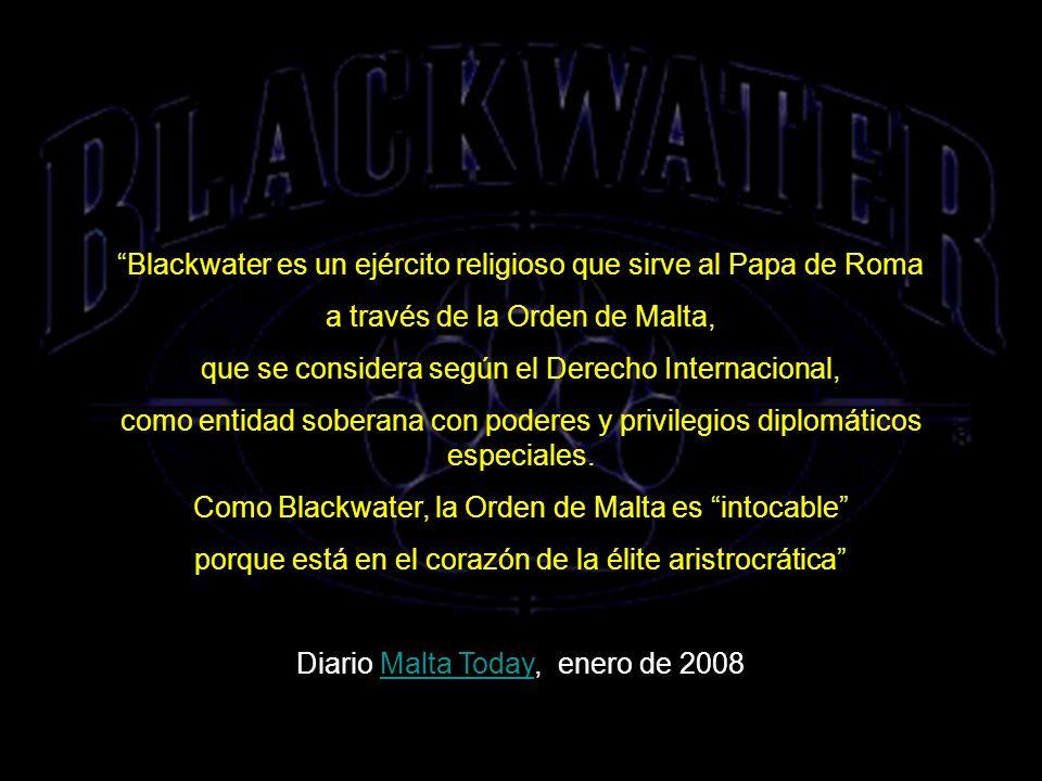 Blackwater es un ejército religioso que sirve al Papa de Roma