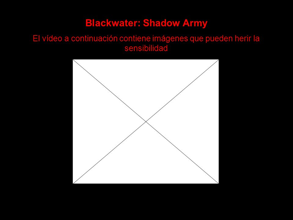 Blackwater: Shadow Army