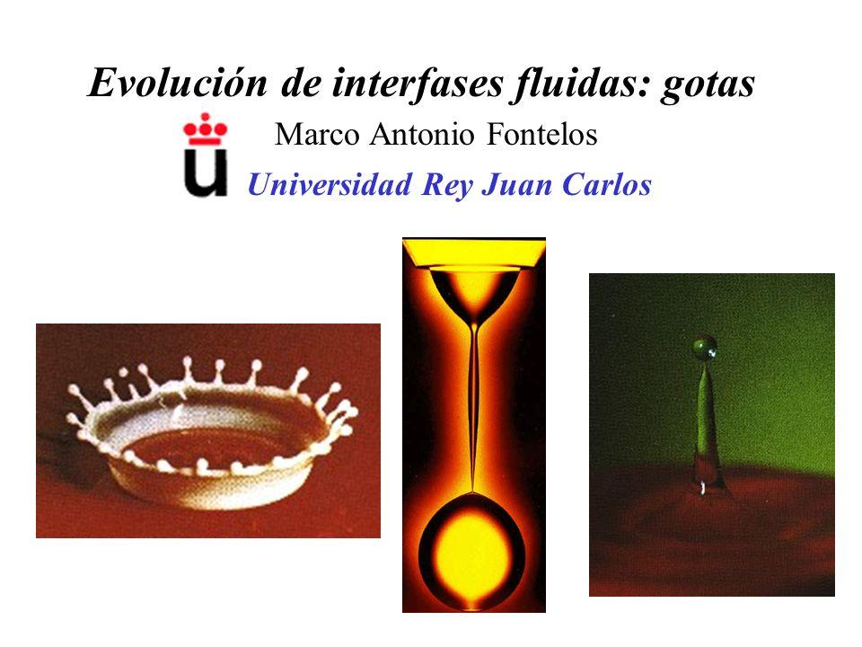 Evolución de interfases fluidas: gotas