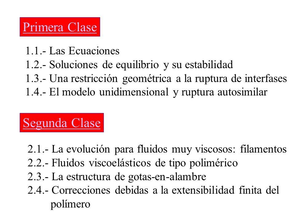 Primera Clase Segunda Clase 1.1.- Las Ecuaciones