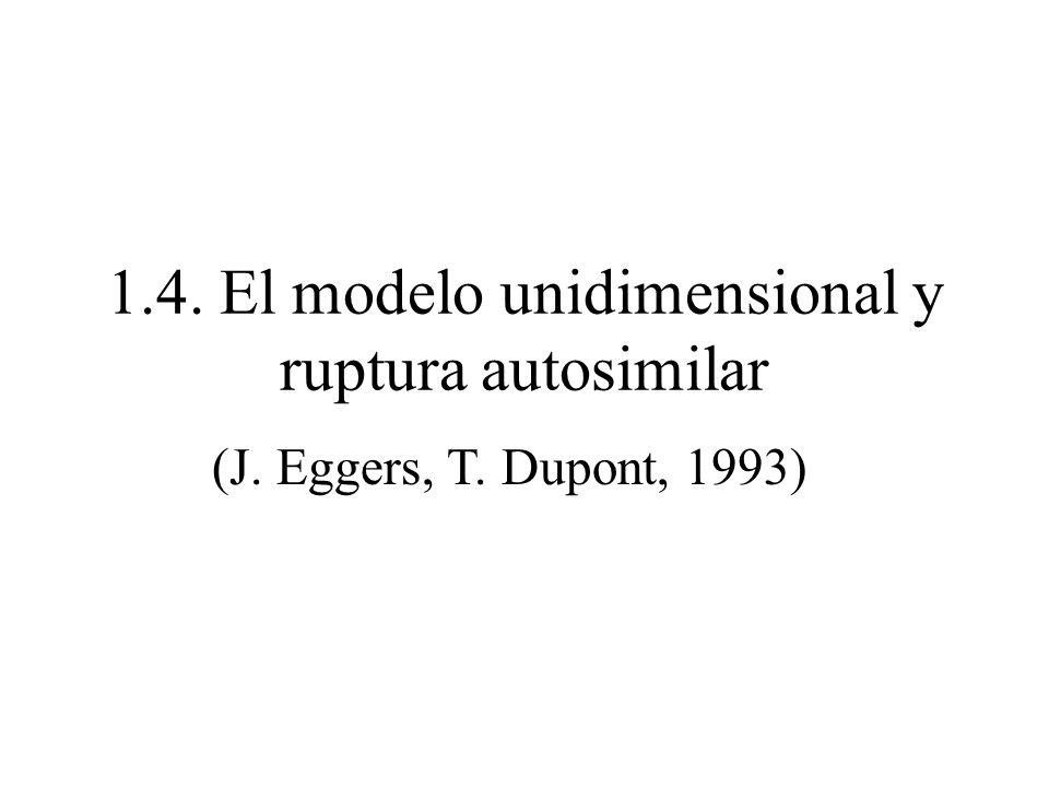 1.4. El modelo unidimensional y ruptura autosimilar
