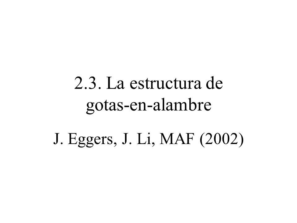 2.3. La estructura de gotas-en-alambre