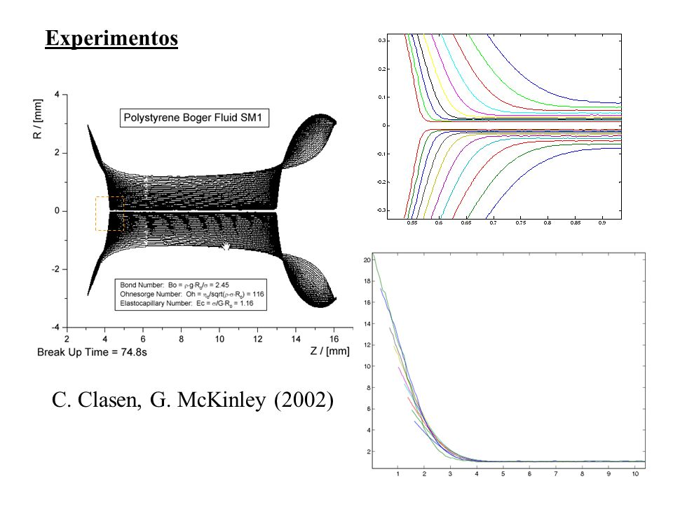 Experimentos C. Clasen, G. McKinley (2002)