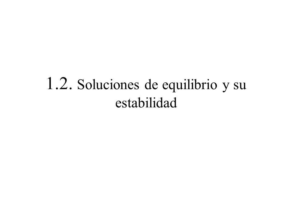 1.2. Soluciones de equilibrio y su estabilidad