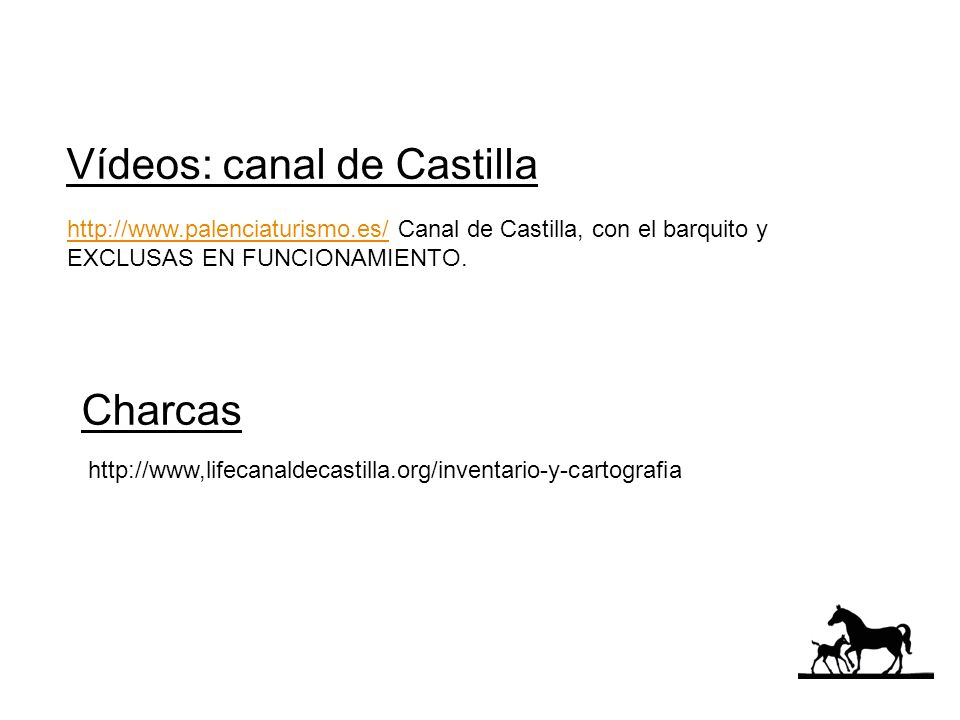 Vídeos: canal de Castilla