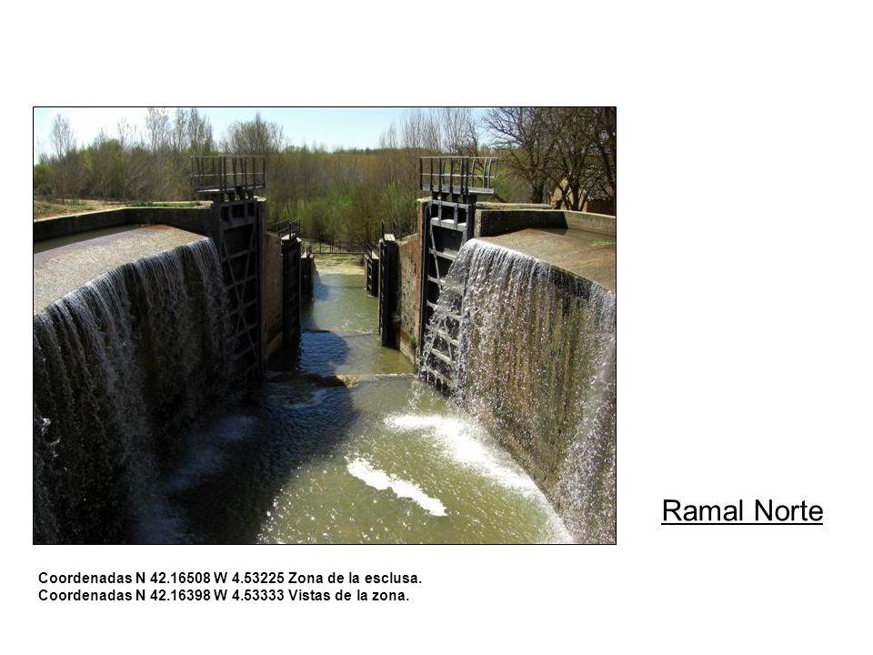 Ramal Norte Coordenadas N 42.16508 W 4.53225 Zona de la esclusa.