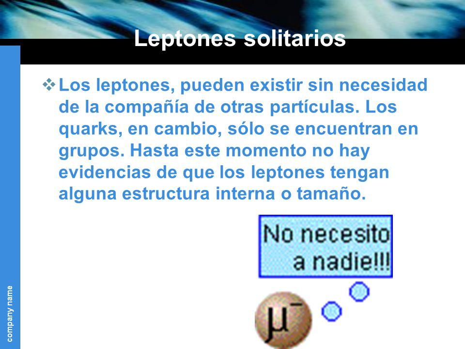Leptones solitarios