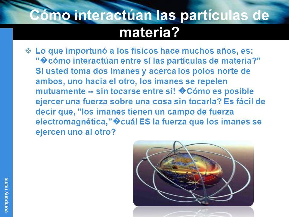 Cómo interactúan las partículas de materia