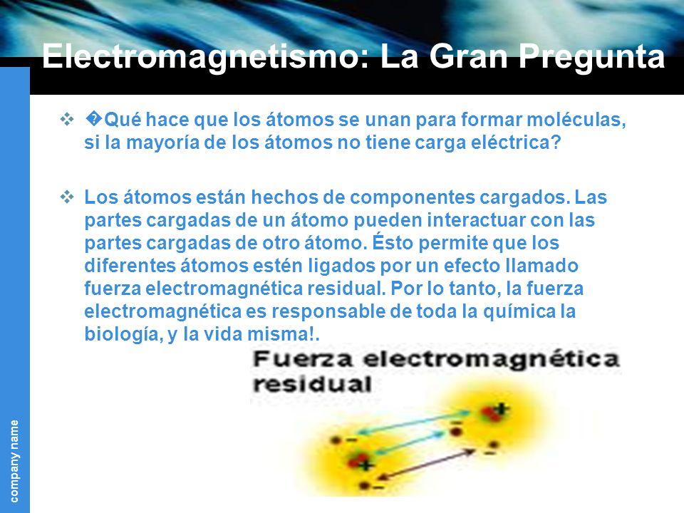 Electromagnetismo: La Gran Pregunta