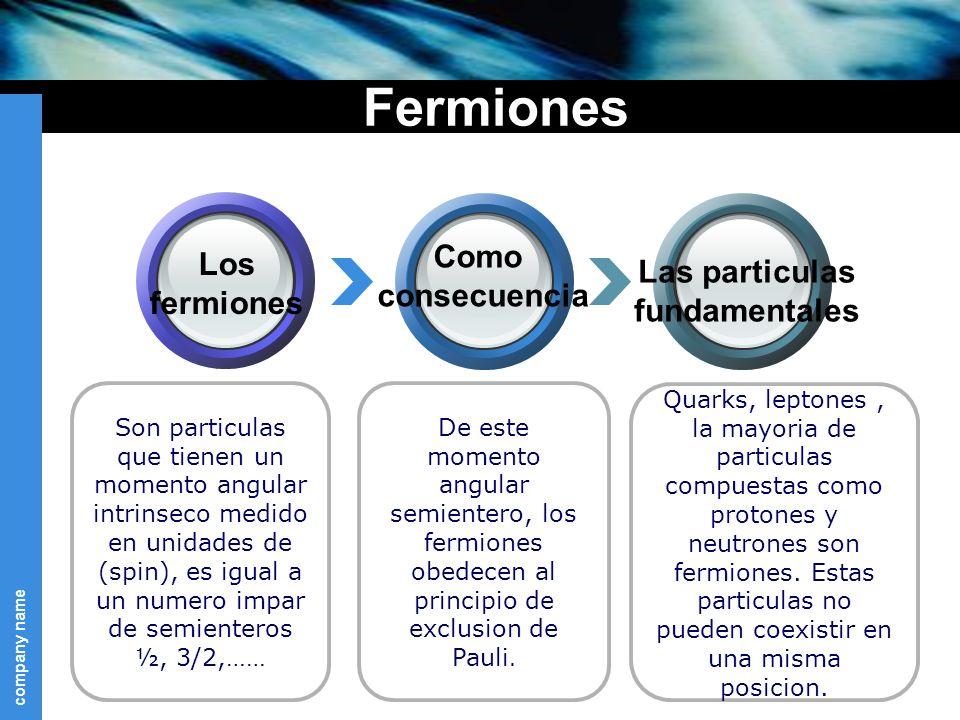 Fermiones Como Los Las particulas consecuencia fermiones fundamentales