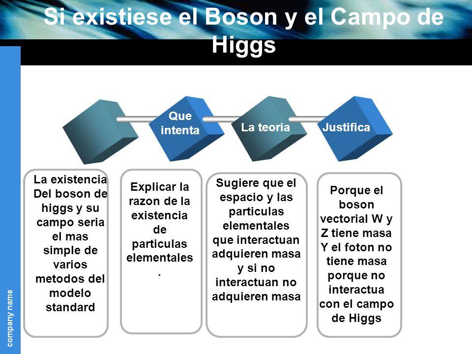 Si existiese el Boson y el Campo de Higgs