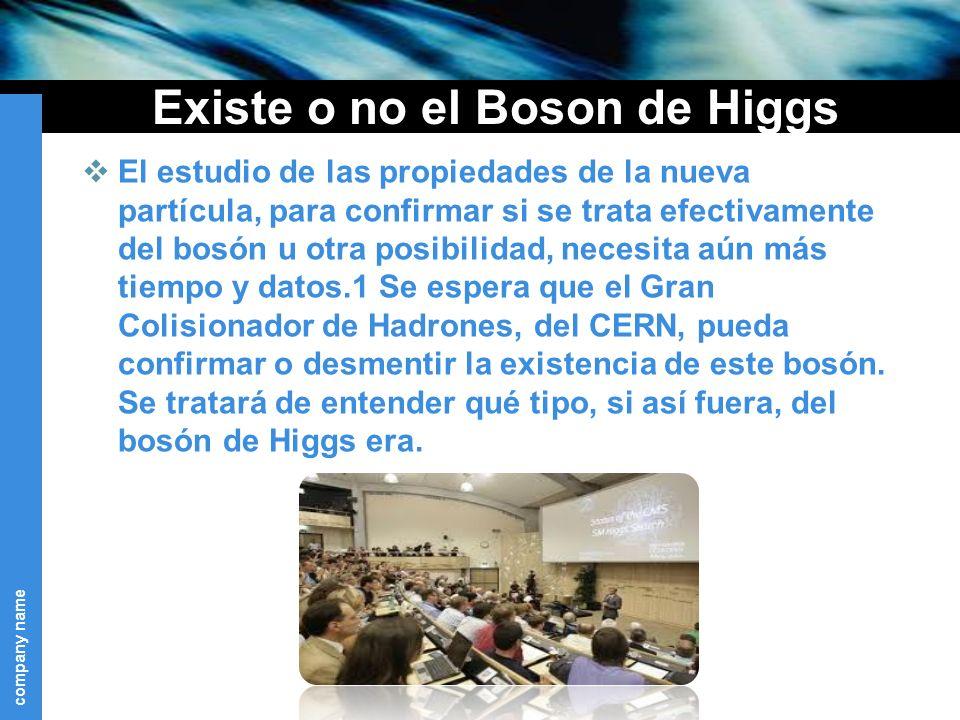 Existe o no el Boson de Higgs