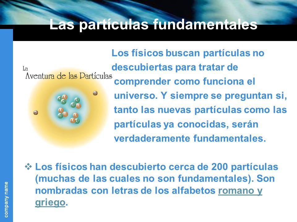 Las partículas fundamentales