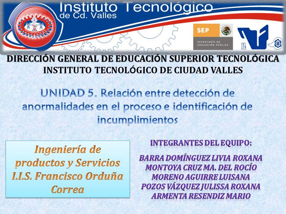 Ingeniería de productos y Servicios I.I.S. Francisco Orduña Correa
