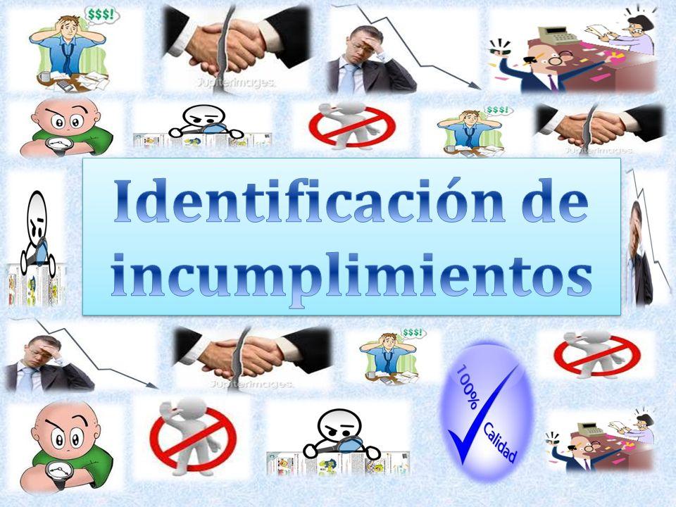 Identificación de incumplimientos