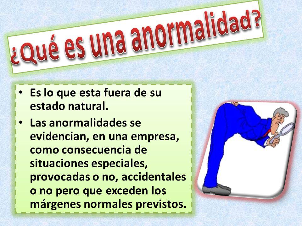 ¿Qué es una anormalidad