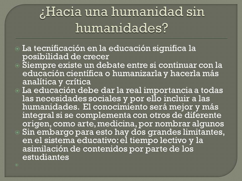 ¿Hacia una humanidad sin humanidades