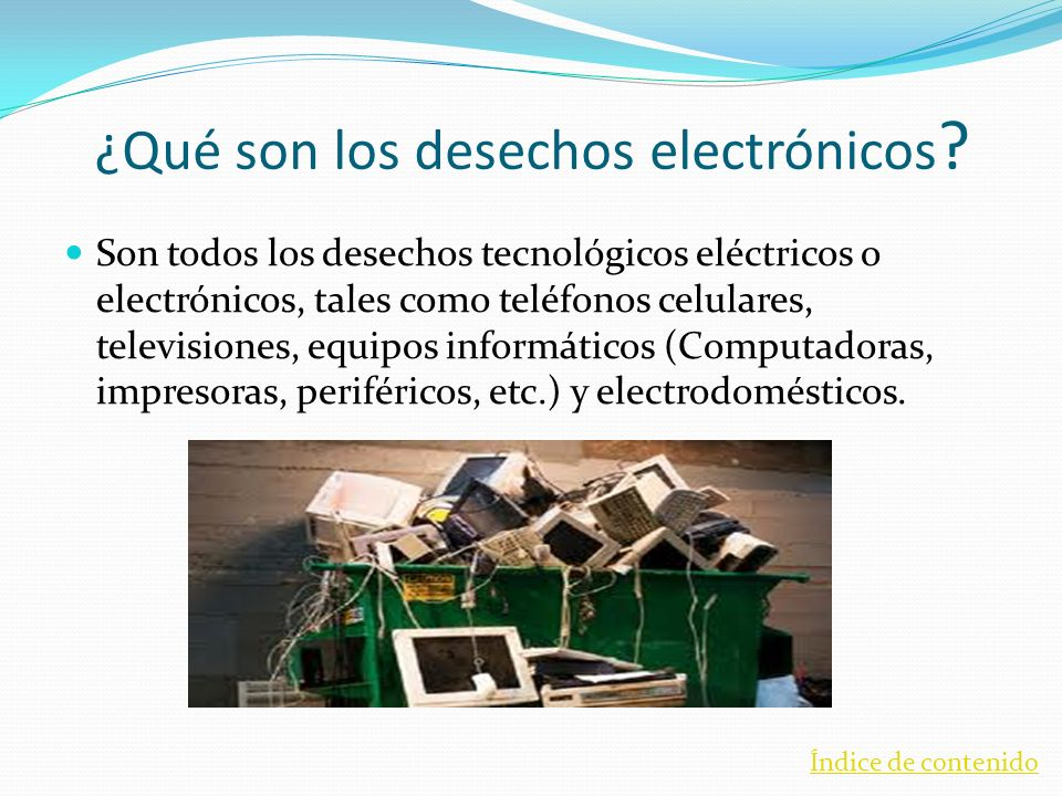¿Qué son los desechos electrónicos