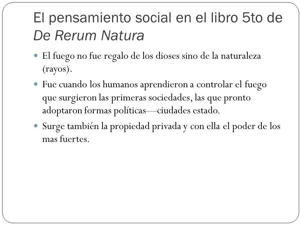 El pensamiento social en el libro 5to de De Rerum Natura
