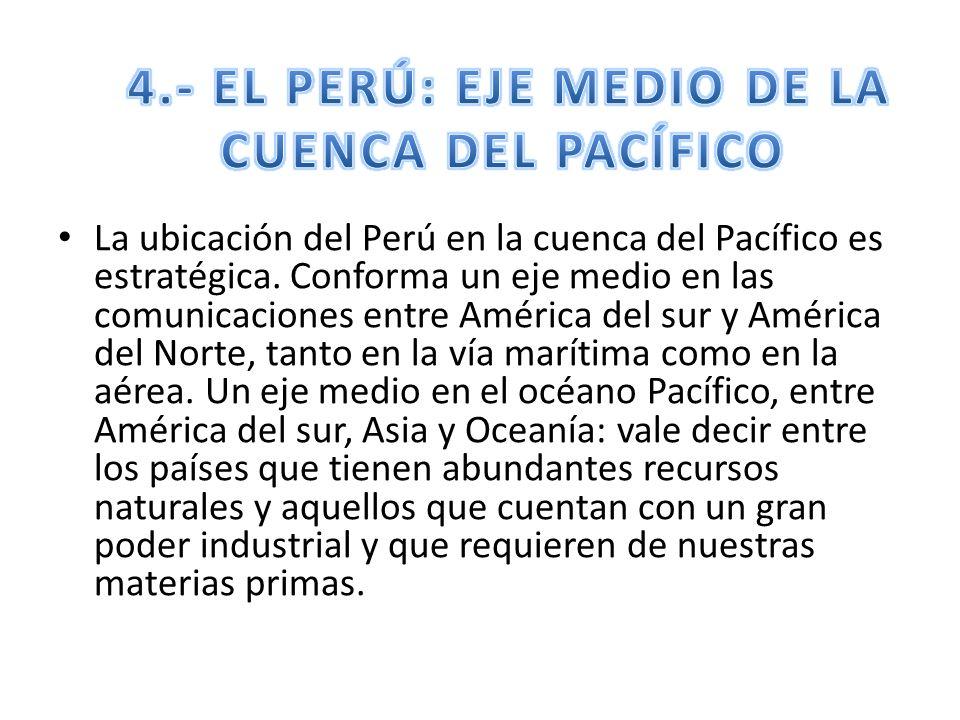 4.- EL PERÚ: EJE MEDIO DE LA CUENCA DEL PACÍFICO