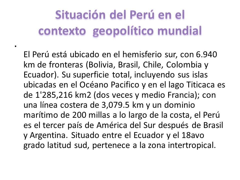 Situación del Perú en el contexto geopolítico mundial