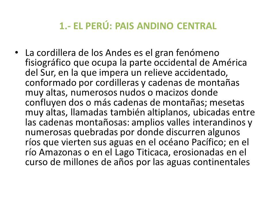 1.- EL PERÚ: PAIS ANDINO CENTRAL