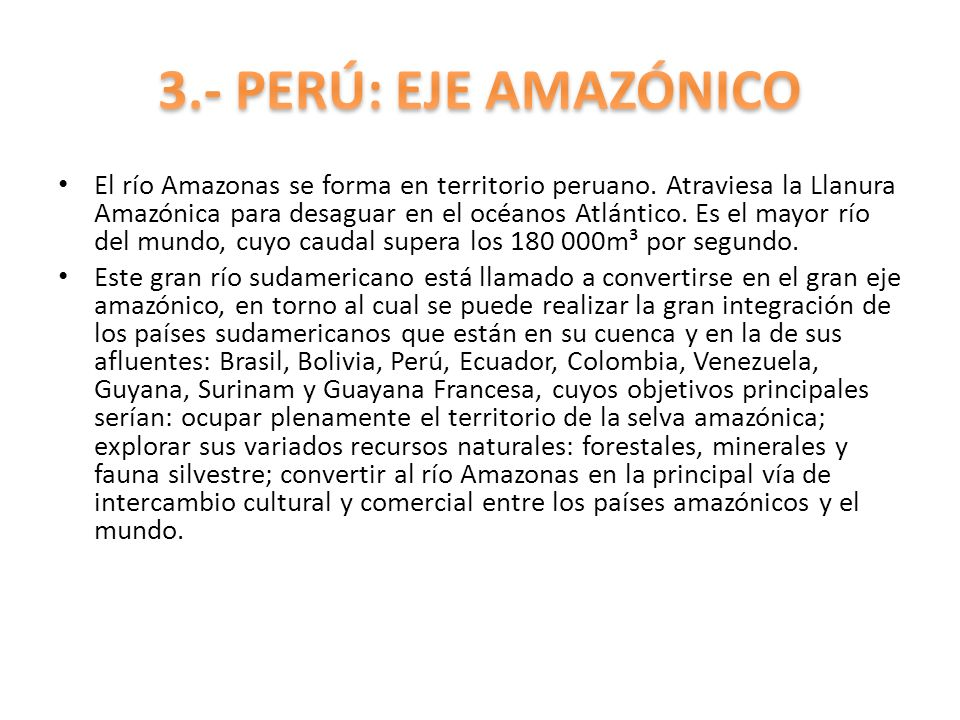 3.- PERÚ: EJE AMAZÓNICO
