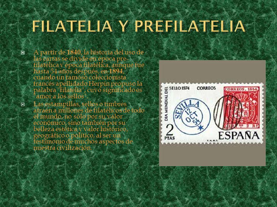 FILATELIA Y PREFILATELIA