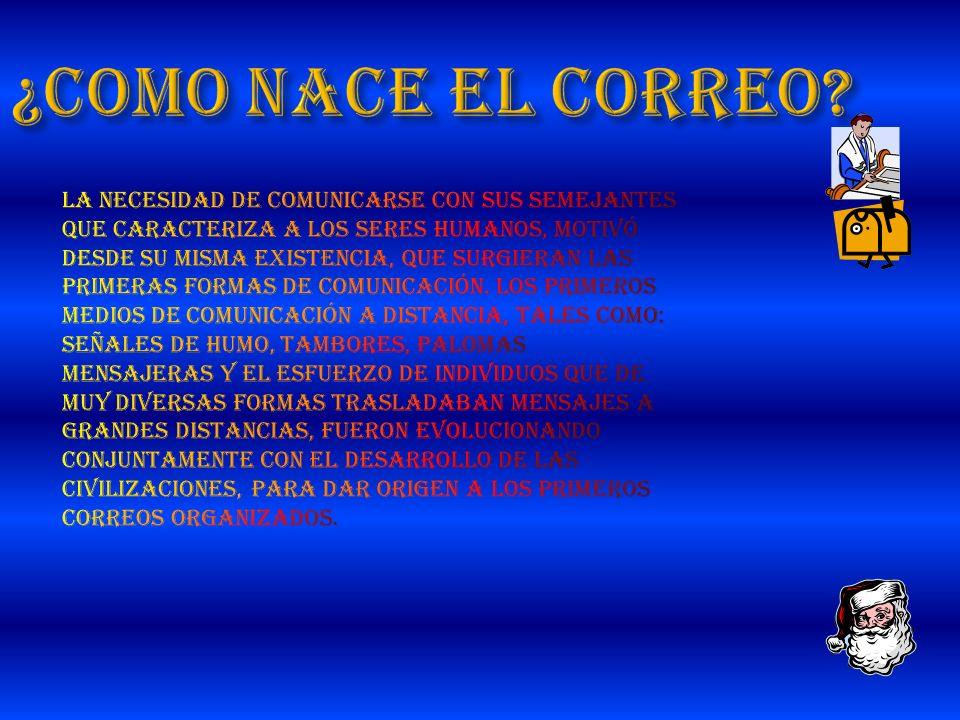 ¿COMO NACE EL CORREO