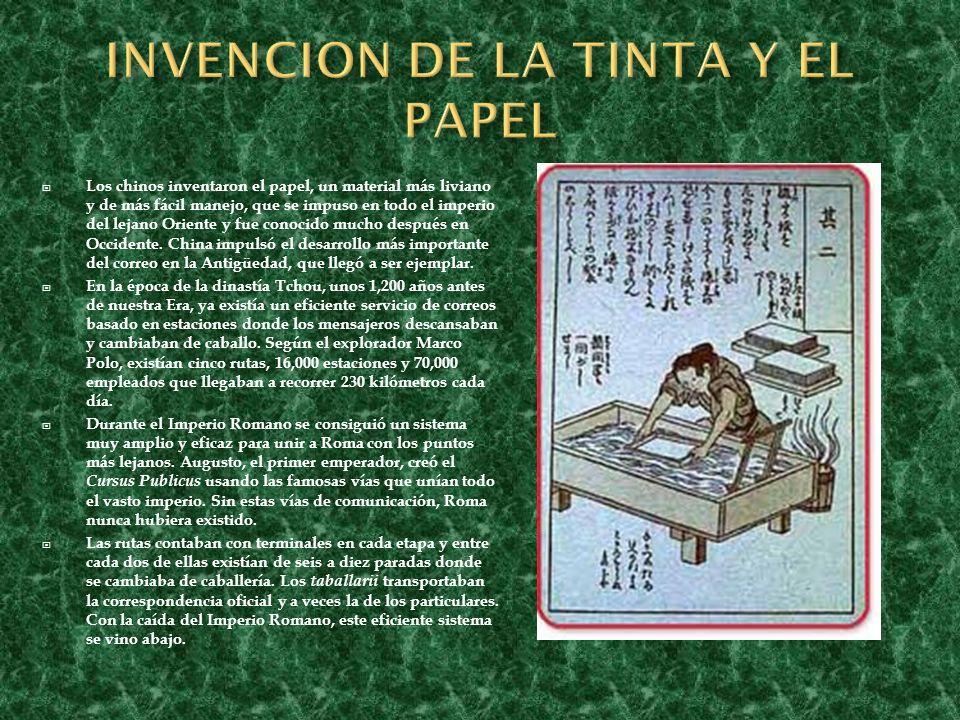 INVENCION DE LA TINTA Y EL PAPEL