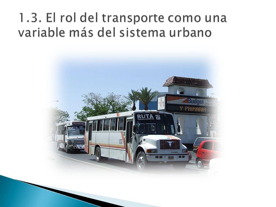 1.3. El rol del transporte como una variable más del sistema urbano