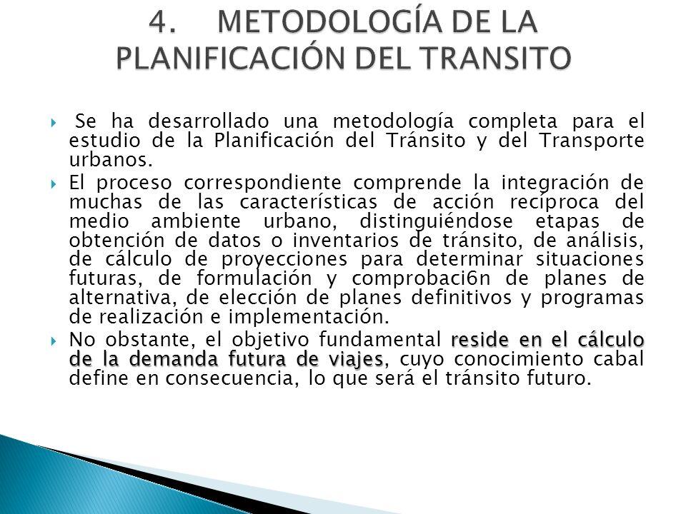 4. METODOLOGÍA DE LA PLANIFICACIÓN DEL TRANSITO