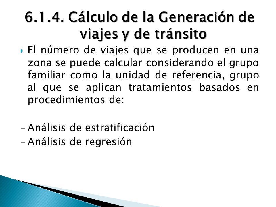 6.1.4. Cálculo de la Generación de viajes y de tránsito