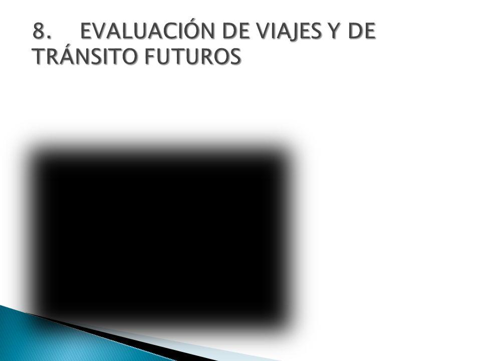 8. EVALUACIÓN DE VIAJES Y DE TRÁNSITO FUTUROS