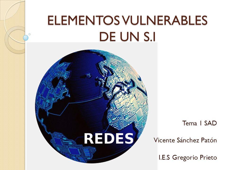 ELEMENTOS VULNERABLES DE UN S.I