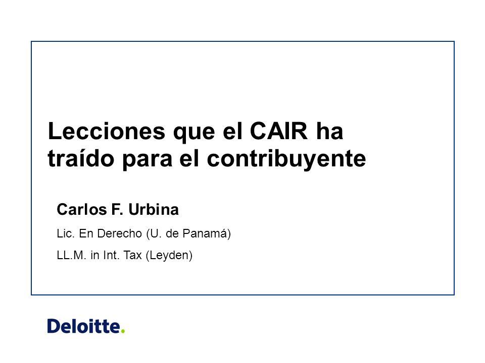 Lecciones que el CAIR ha traído para el contribuyente