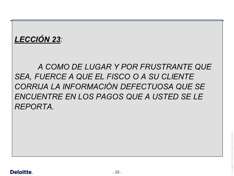 LECCIÓN 23:
