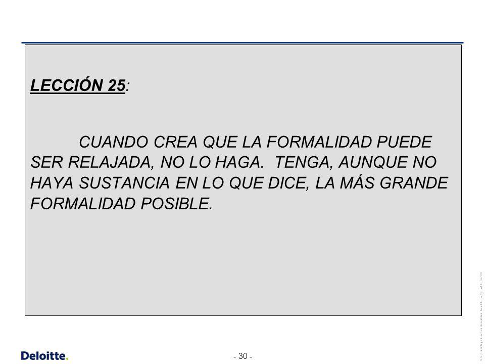 LECCIÓN 25:
