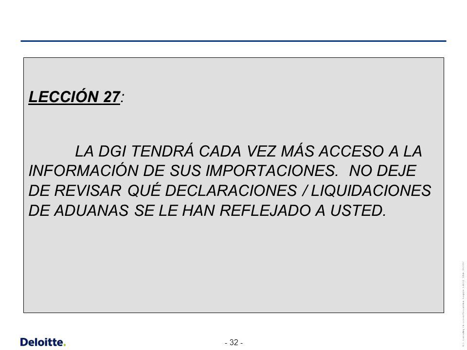 LECCIÓN 27: