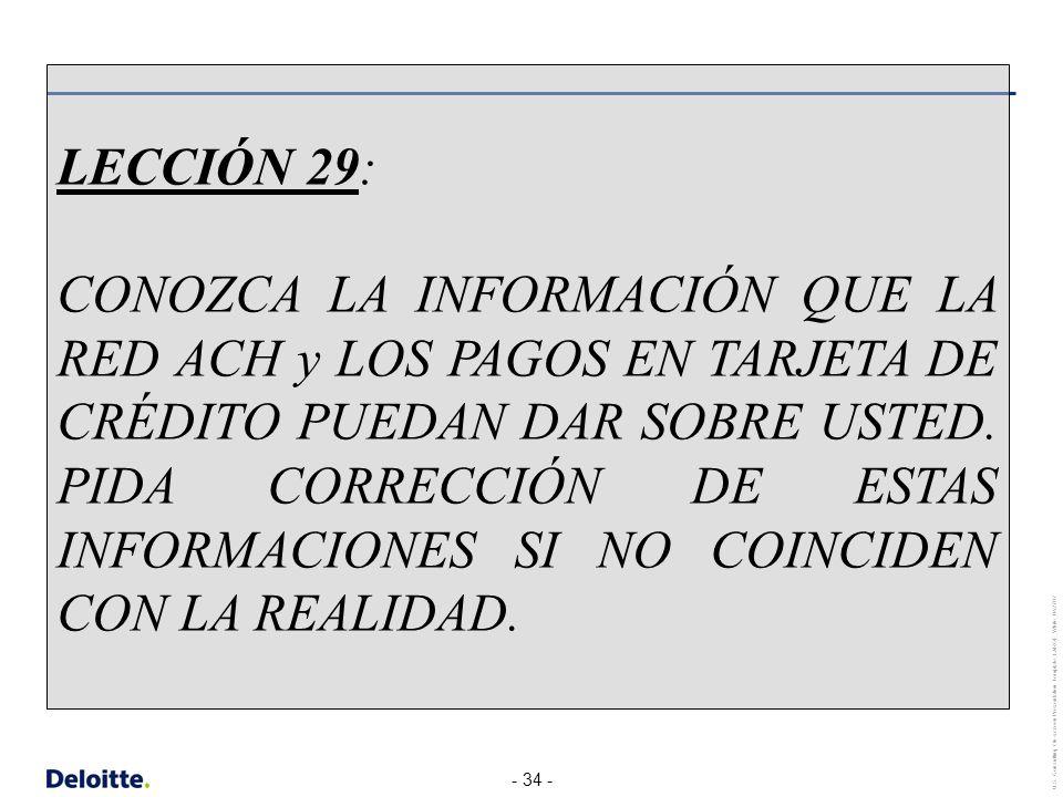 LECCIÓN 29: