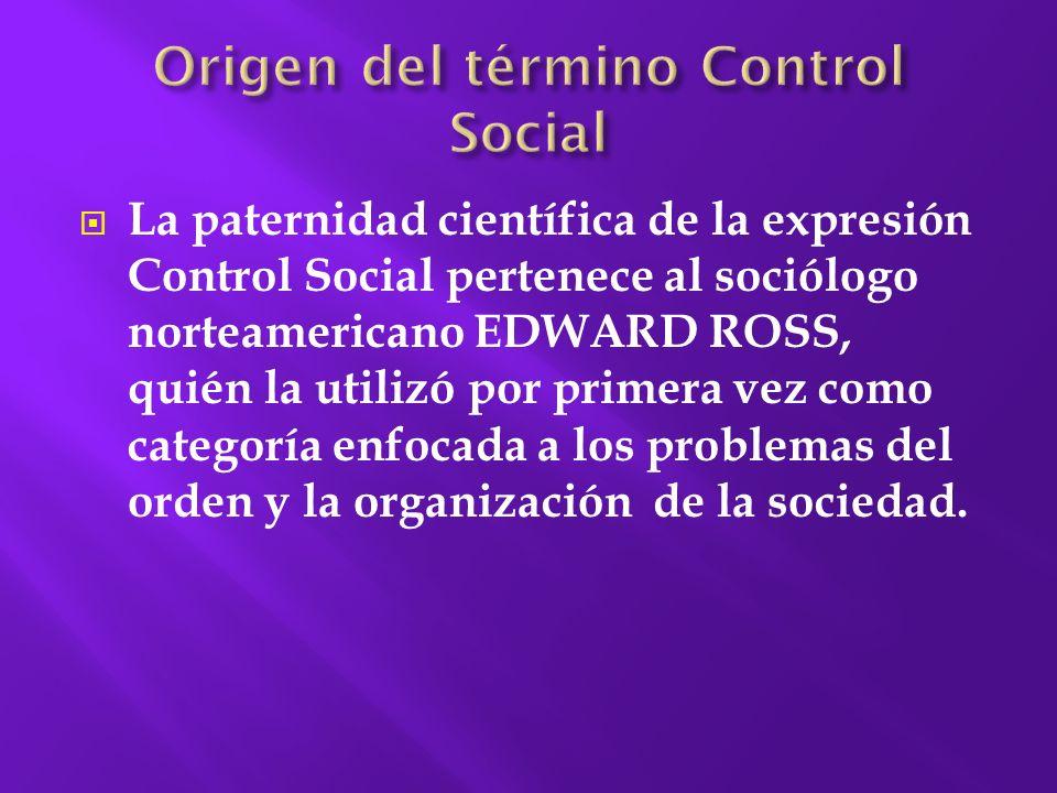 Origen del término Control Social