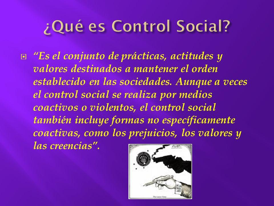 ¿Qué es Control Social