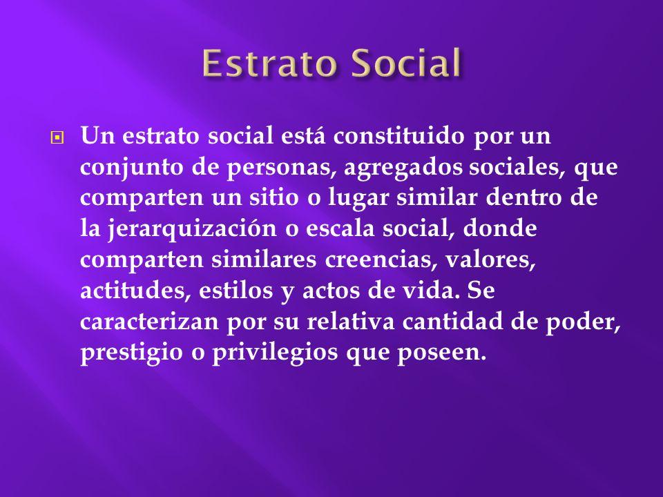 Estrato Social