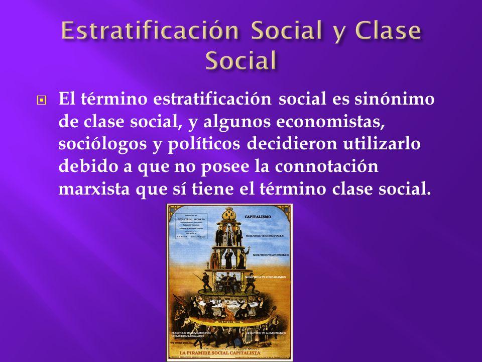 Estratificación Social y Clase Social