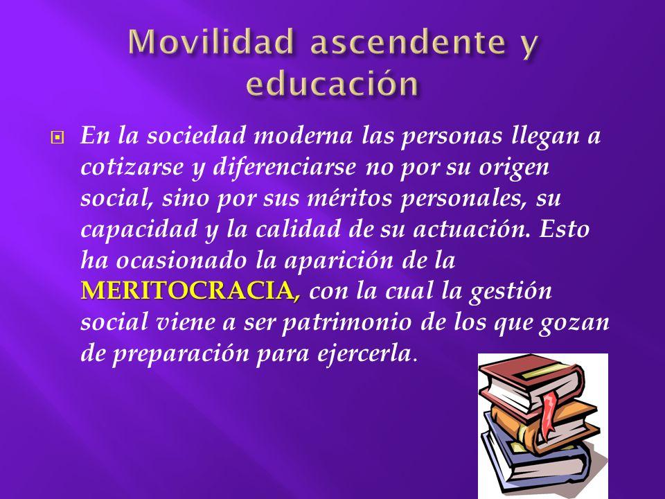 Movilidad ascendente y educación