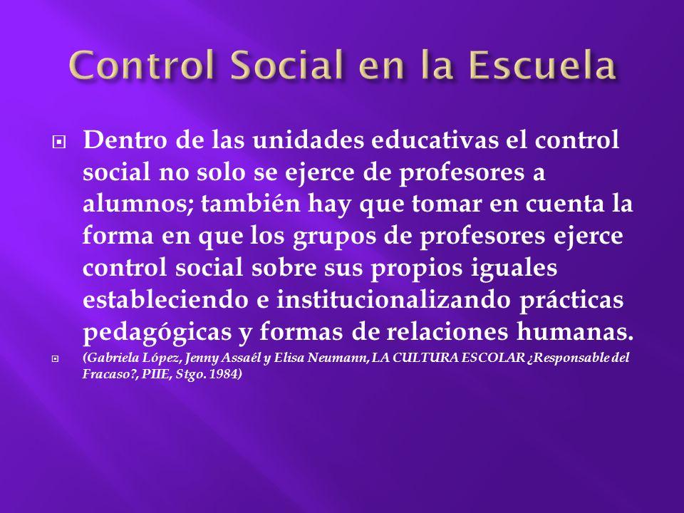 Control Social en la Escuela