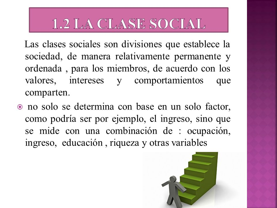1.2 la clase social