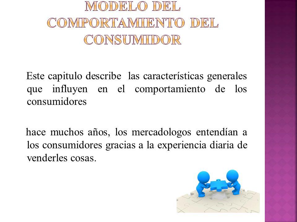 Modelo del comportamiento del consumidor